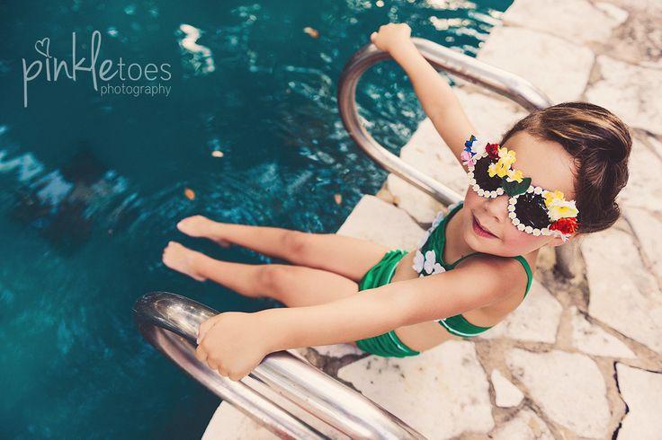 austin-kids-model-child-pool-underwater-retro-swim-swimsuit-summer-vintage-photo...