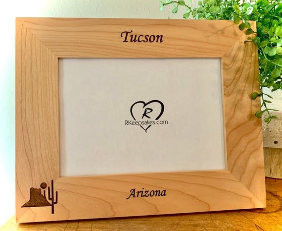 Desert Picture Frame, Arizona, Any Text, Personalized...