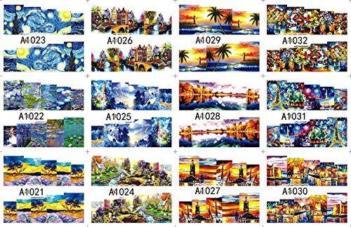 RXBGPZZJT Nail Sticker 12 Sheet Lot Water Sticker Nail Art Nail Sticker Sli ...