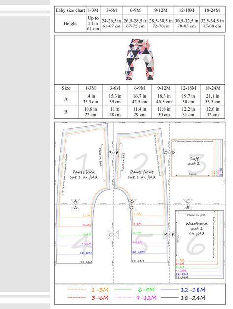 Baby harem pants Sewing Pattern PDF baby sewing patterns size...