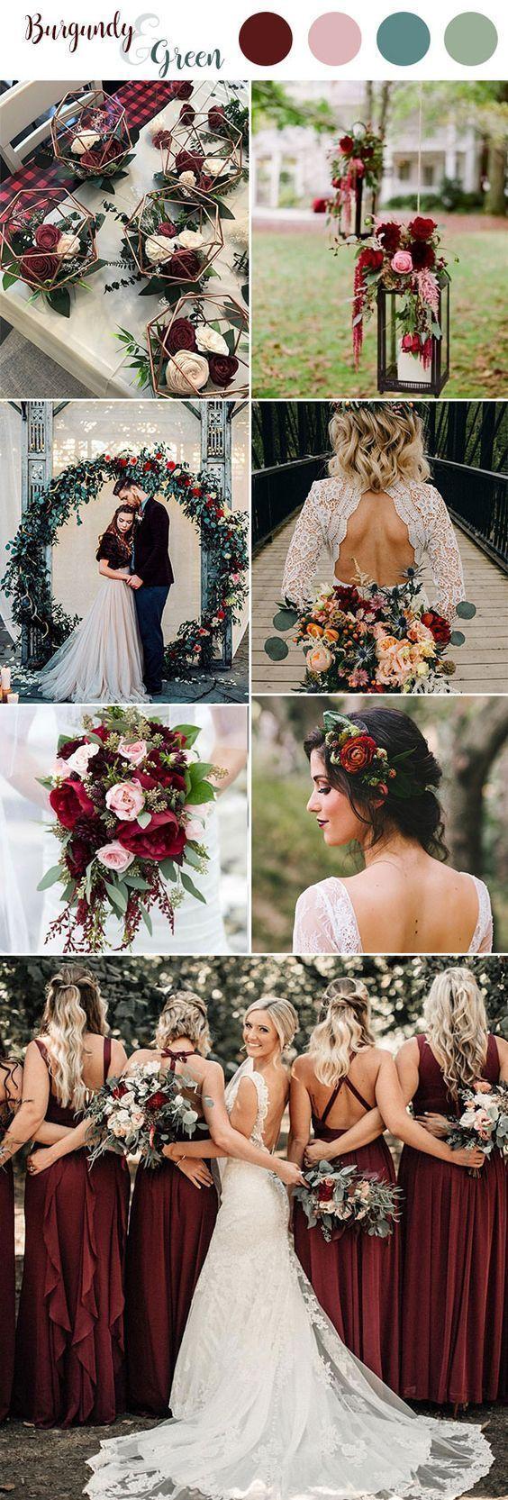 Over 100 Marsala / Burgundy color combinations for Fall 2019 wedding ...