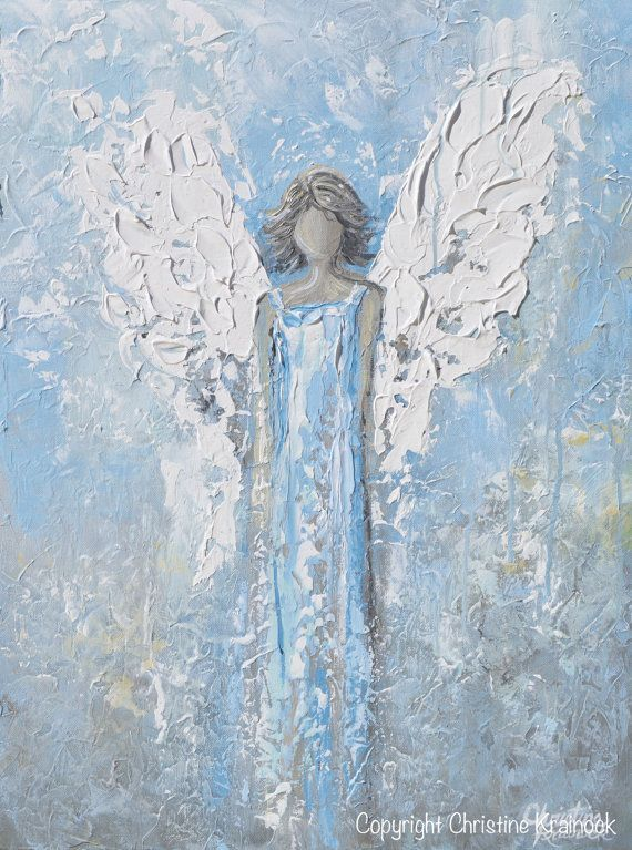 GICLEE PRINT Art Abstract Angel Oil Painting Acrylic Paintings House ...