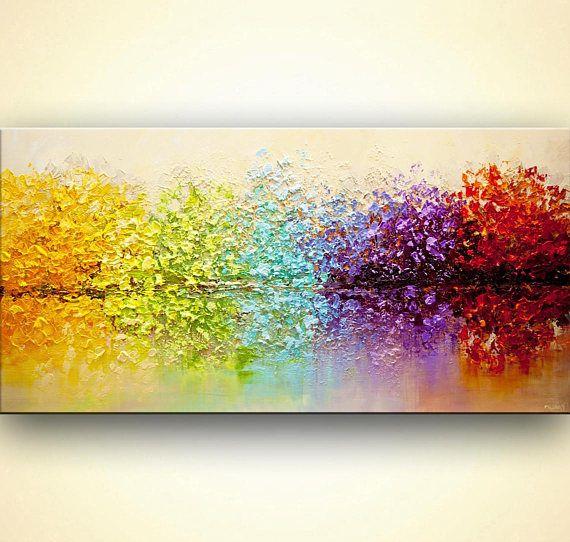 Paintings name: The Secret Garden Size: 60x30x1.5 Medium: Acrylic on gallery-wra...