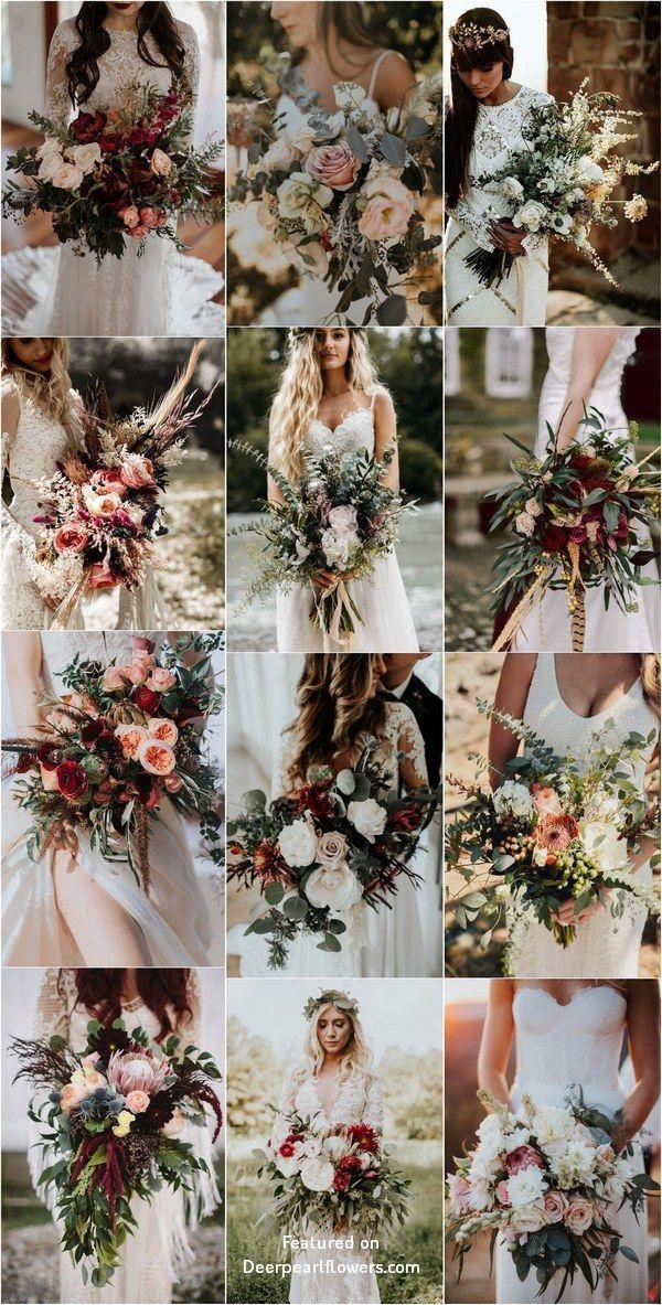Bohemian Wedding Bouquet and Flowers #Weddings #Wedding Bouquets #Wedding ...