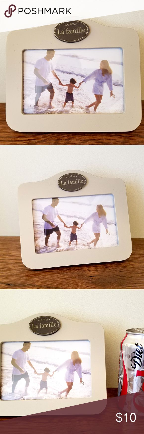 """4 by 6 La Famille Picture Frame - French Labeled Unique frame labeled """"La F..."""
