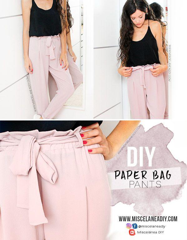 DIY sewing   How to make a waist pants (DIY paper bag)