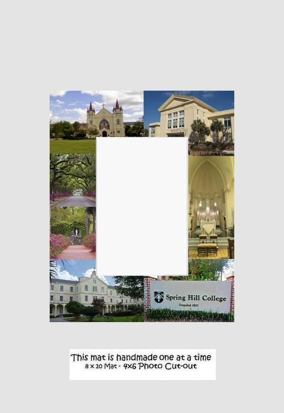 Spring Hill College Picture Frame Photo Mat Unique Gift School Graduation Person...