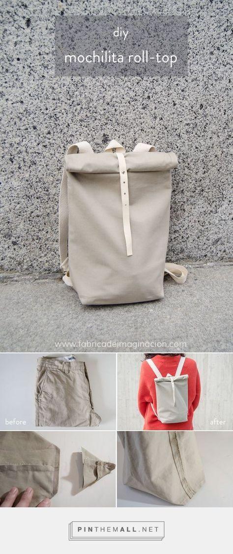 DIY Mochilita Roll Top | DIY fancy factory | Backpack Roll-Top #fabrik #moch ...