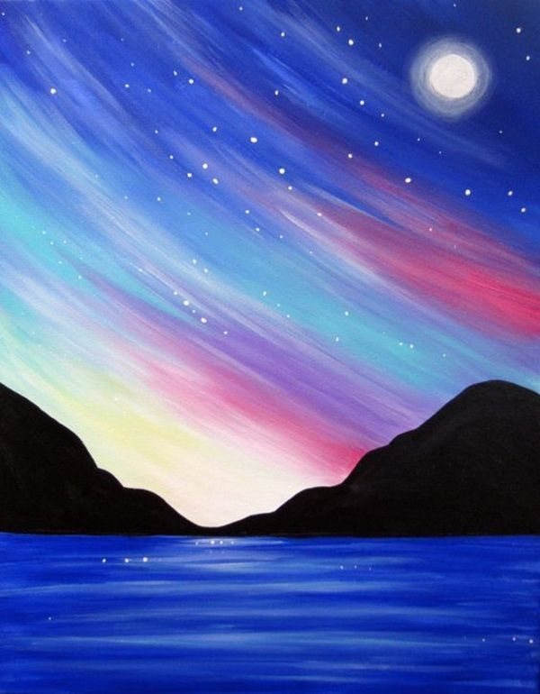 110 simple ideas for acrylic painting for beginners to try out ...