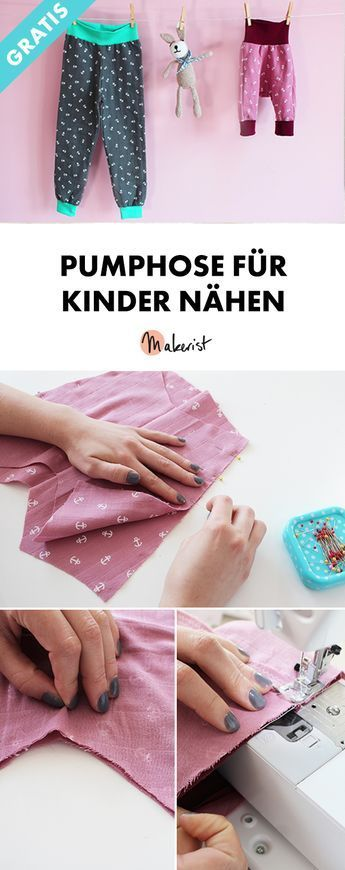 Sewing bloomers for babies and children - free sewing instructions via Makerist.de ...
