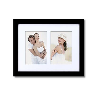 Charlton Home Cleveland 2 Opening Decorative Wall Hanging Picture Frame Color: B...