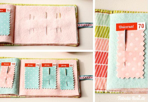 Storage of used sewing machine needles (www.tabula-rosi.de - Needlebook-3_7 ...