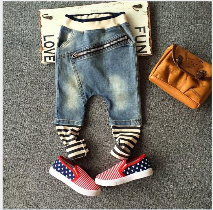 Boys In Jeans Fashion Boys Jeans Denim Pants 2015 New Hot Sale Children Zipper S...
