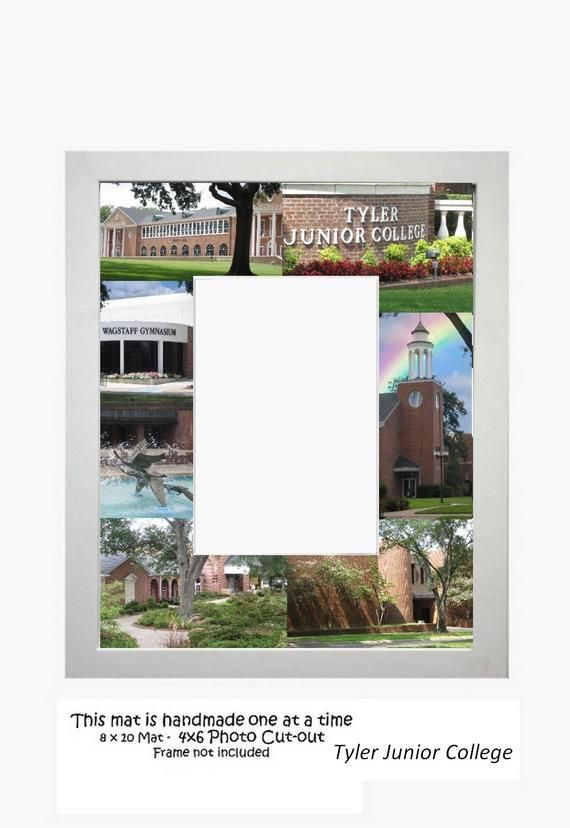 Tyler Junior College Picture Frame Photo Mat Unique Gift School Graduation Perso...