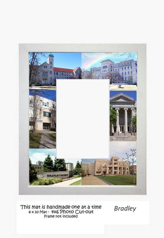 Bradley University Picture Frame Photo Mat Unique Gift Graduation Personalized...