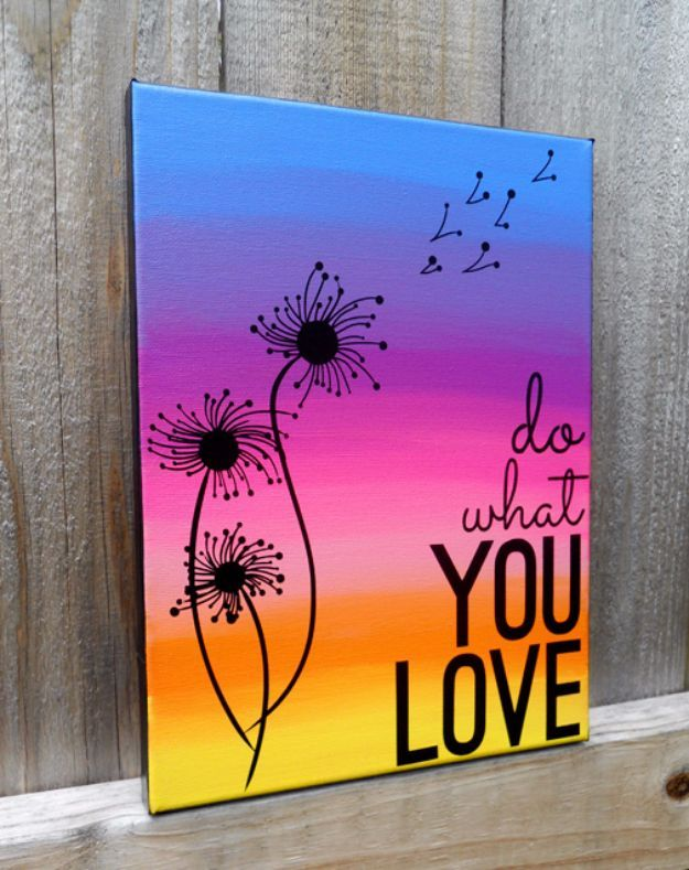 15 Super Easy DIY Canvas Painting Ideas for Artistic Home Decor ...