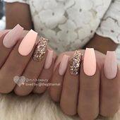Coffin-acrylic nails that look nice. # coffinacrylnägel - Beauty - #Bea ...
