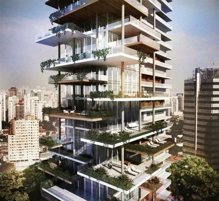 Modern Architecture Building Apartments 28