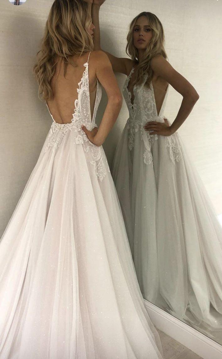 Beautiful #WEDDING look. WHITE DRESS FOR WEDDING CEREMONY. RUSTIC WEDDING DRESS.... - Brautkleider